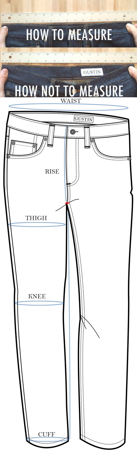 Size Charts. Click on a category below to see sizing information. Also, check out our men's jeans fit guide and women's jeans fit guide to find your perfect fit.